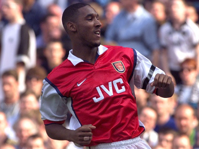 Nicolas Anelka pictured for Arsenal in 1999