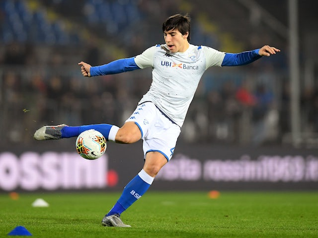 Brescia midfielder Sandro Tonali pictured in October 2019