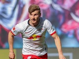 RB Leipzig striker Timo Werner in action on May 16, 2020