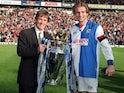 Blackburn captain Tim Sherwood celebrates winning the Premier League title in 1995