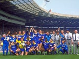 Wimbledon celebrate winning the 1988 FA Cup final