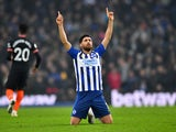 Brighton & Hove Albion winger Alireza Jahanbakhsh pictured on January 1, 2020