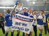 Birmingham celebrate winning promotion in 2001-02