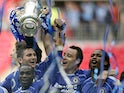 Chelsea players celebrate winning the 2007 FA Cup