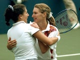 Steffi Graf and Monica Seles pictured in 1995