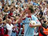 Wade Elliott of Burnley celebrates winning the 2009 playoff final