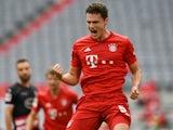 Benjamin Pavard celebrates scoring for Bayern Munich on May 30, 2020