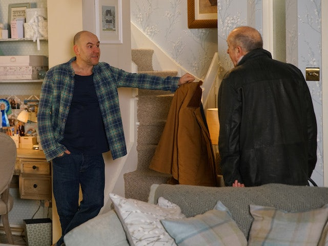 Tim is forced to throw Geoff out on Coronation Street on June 12, 2020