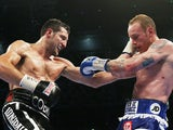Carl Froch and George Groves in action on May 31, 2014
