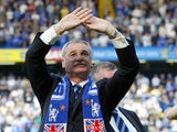 Claudio Ranieri pictured as Chelsea boss in 2004