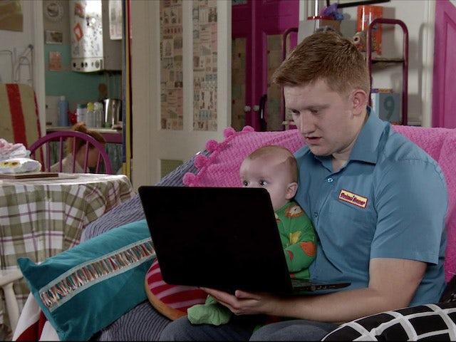 Chesney records a vlog on Coronation Street May 27, 2020