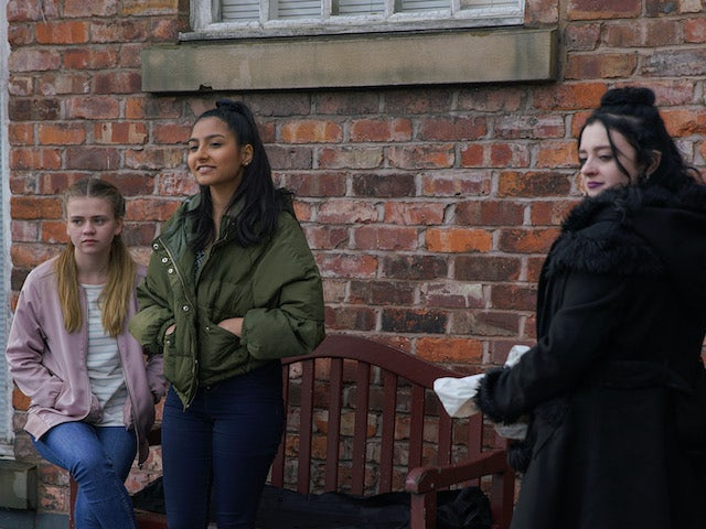 Asha confronts Corey on Coronation Street on June 5, 2020