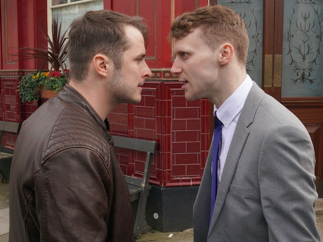 Ben and Jay argue on EastEnders on June 1, 2020
