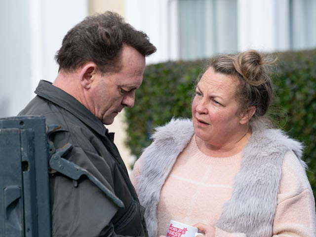 Karen and Billy have a heart to heart on EastEnders on June 2, 2020