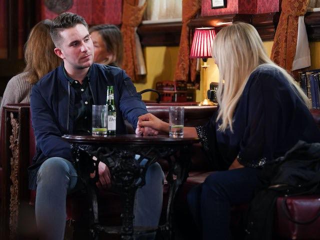 Sharon consoles Callum on EastEnders on June 2, 2020