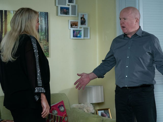 Phil and Sharon have a tense conversation on EastEnders on June 8, 2020