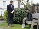 Gray finds a confused Whitney in the square on EastEnders on June 8, 2020