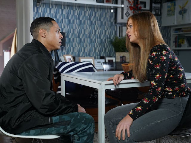 Keegan and Tiffany have a heart to heart on EastEnders on June 8, 2020