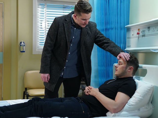 Ben and Callum on EastEnders on May 18, 2020