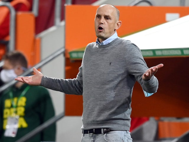 Augsburg head coach Heiko Herrlich pictured on May 27, 2020
