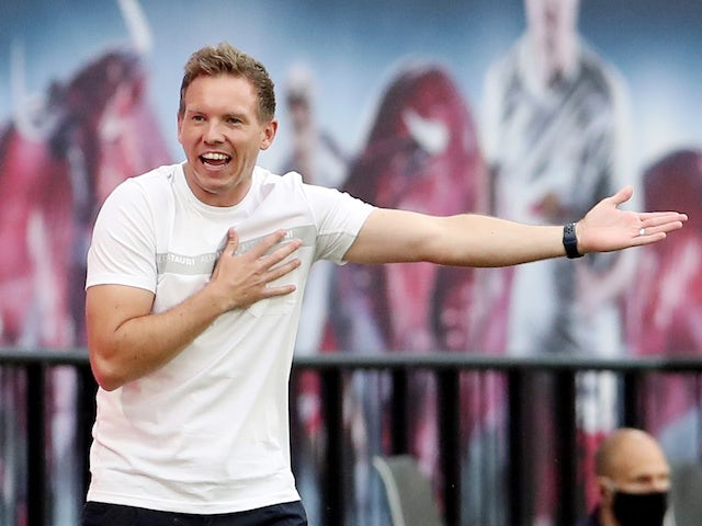RB Leipzig head coach Julian Nagelsmann pictured on May 27, 2020