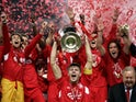 Liverpool celebrate winning the 2005 Champions League after the 'Miracle of Istanbul'