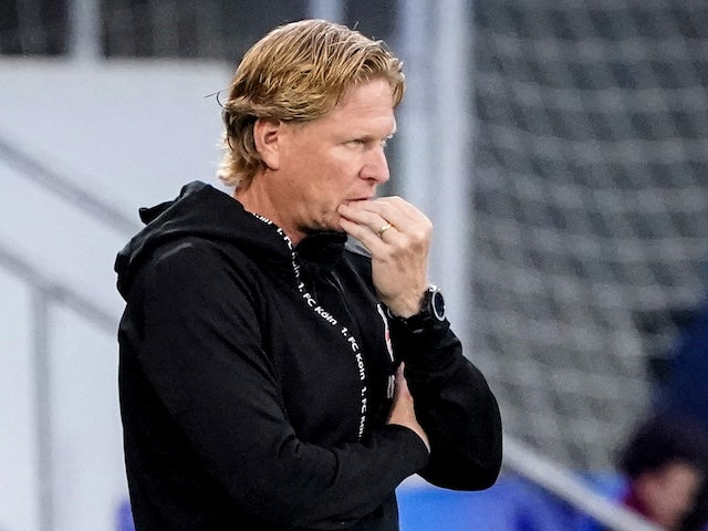 Koln head coach Markus Gisdol pictured on May 27, 2020