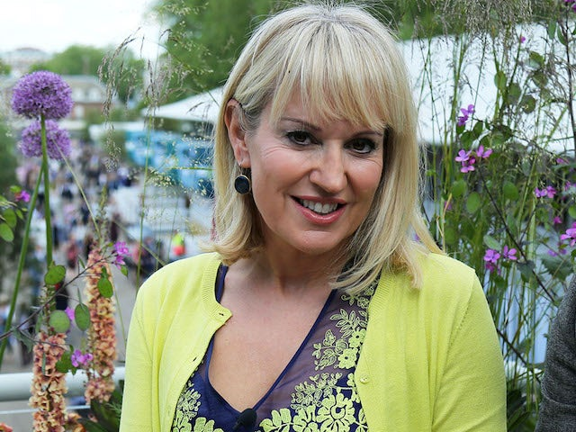 Nicki Chapman presenting the BBC's coverage of the Chelsea Flower Show