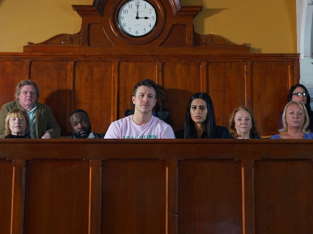 Ryan and Alya watch proceedings on Coronation Street on June 10, 2020