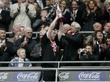 Stephen Pearson celebrates Derby's promotion to the Premier League in 2007
