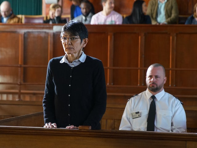 Yasmeen pleads not guilty on Coronation Street on June 10, 2020