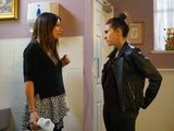 Carla is accosted by Chelsea on Coronation Street on June 12, 2020