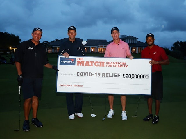 Tiger Woods, Peyton Manning beat Mickelson, Brady as £16.4m raised for charity