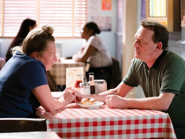 Billy and Karen have a heart to heart on EastEnders on June 16, 2020