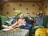 Denise Van Outen and Eddie Boxshall on Celebrity Gogglebox