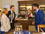Adam, Daniel and Nicky on Coronation Street on June 19, 2020