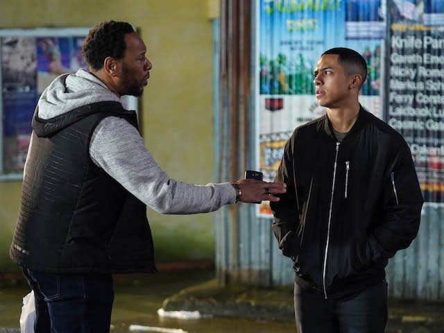 Mitch gives Keegan advice on EastEnders on June 15, 2020