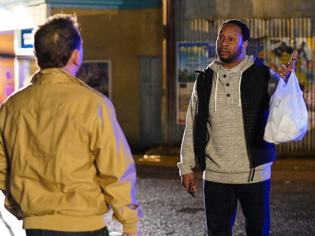 Billy and Mitch square up on EastEnders on June 15, 2020