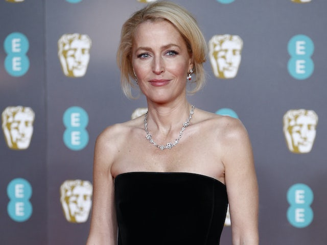 Gillian Anderson pictured on February 2, 2020