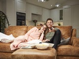 Joe Swash and Stacey Solomon on Celebrity Gogglebox