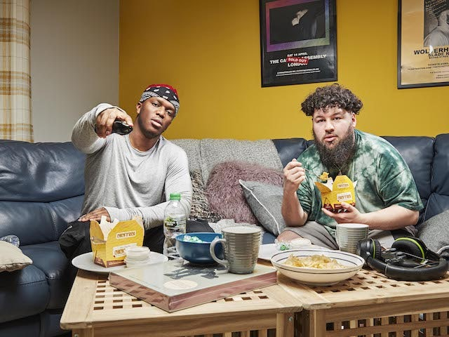 KSI and S-X on Channel 4's Celebrity Gogglebox