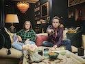 Nick Grimshaw and Liv Grimshaw on Celebrity Gogglebox