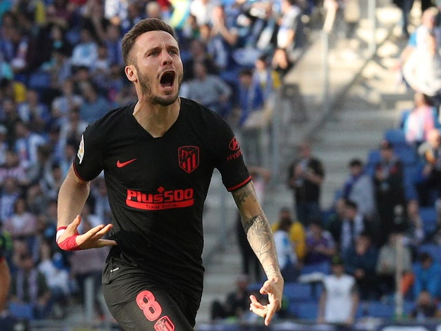 Atletico Madrid midfielder Saul Niguez pictured in March 2020