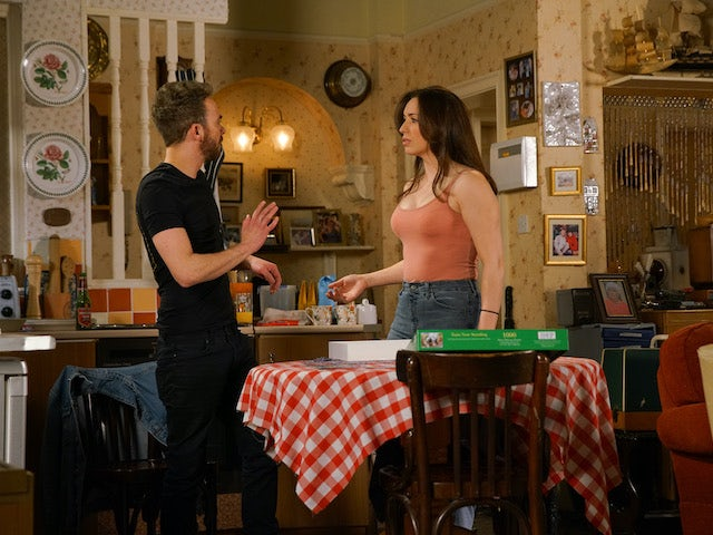David is stunned when Shona suggests sex on Coronation Street on June 26, 2020