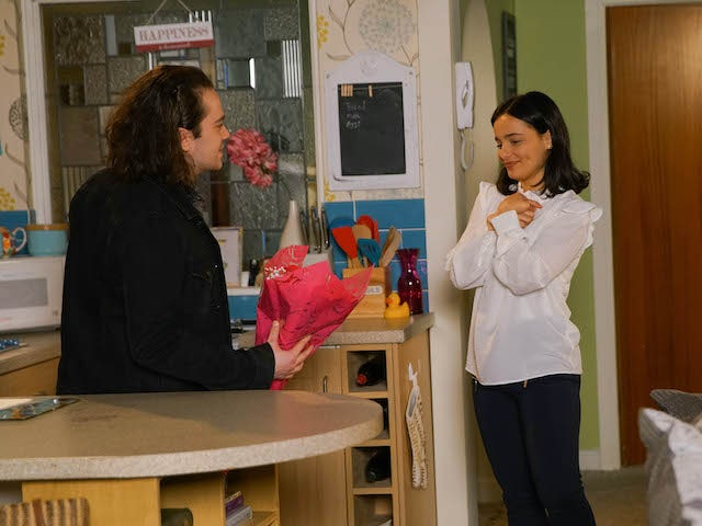 Seb makes a confession to Alina on Coronation Street on June 22, 2020