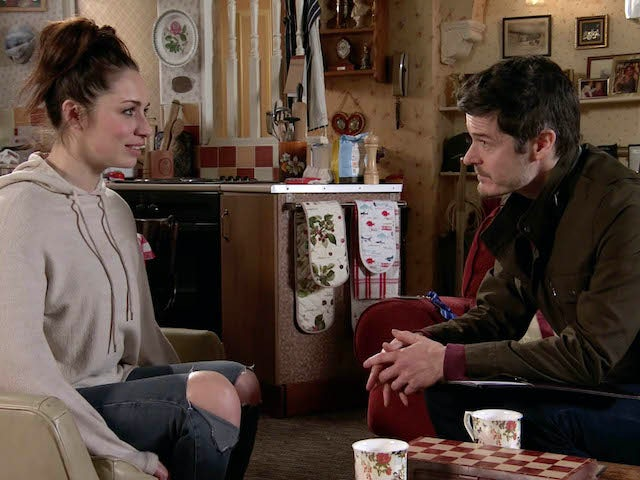 Shona talks to her social worker on Coronation Street on June 22, 2020
