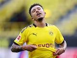Borussia Dortmund winger Jadon Sancho pictured on June 6, 2020