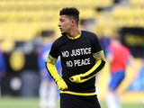 Borussia Dortmund winger Jadon Sancho pictured on June 6, 2020