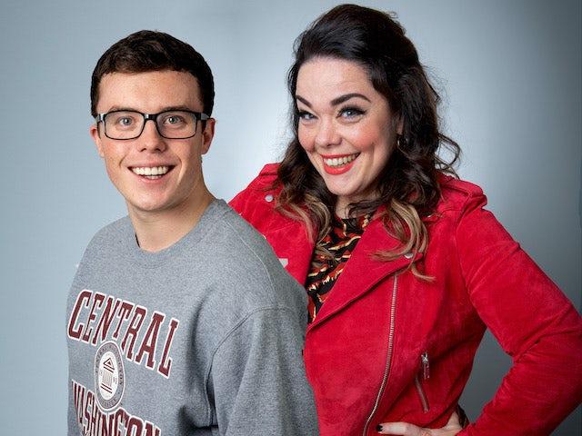 Vinny and Mandy in the lockdown episode of Emmerdale airing on June 15, 2020