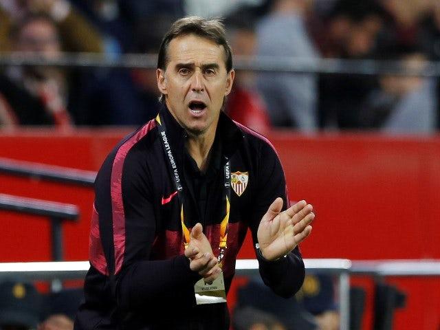 Sevilla manager Julen Lopetegui pictured in February 2020